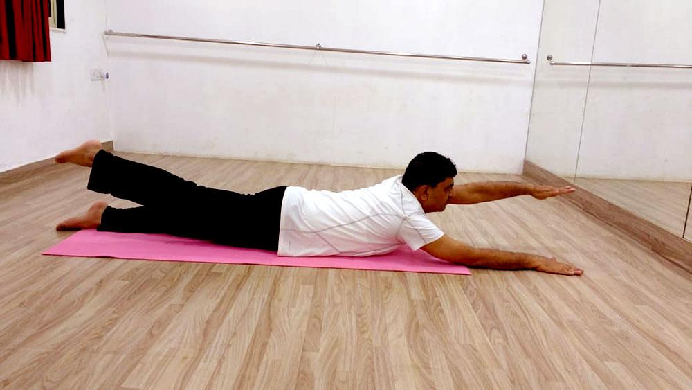 Ardha-Shalabhasana-variation-sciatica-pain